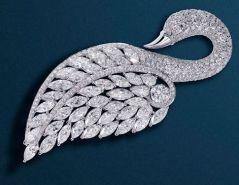 Брошь Царевна Лебедь от Графф